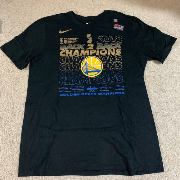 new product 4bc3e 90c8c NWT Golden State Warriors 2018 Championship Shirt NWT